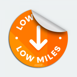 Low Miles Auto Dealer Marketing Decal