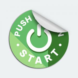 Push Button Start Auto Dealer Decals