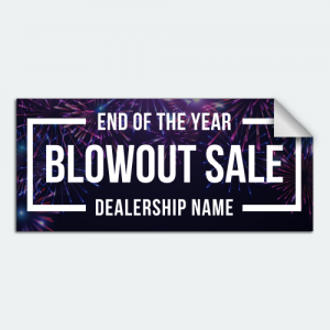 DIYwraps blowout sale auto dealer decal