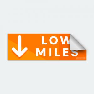 DIYwraps Low Miles Auto Dealer Decal