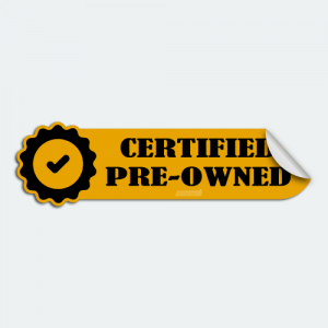 DIYwraps Certified Pre-Owned Auto Dealer Decal